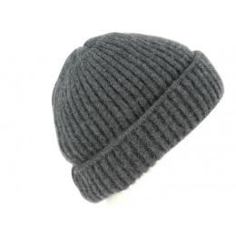 Bonnet à Revers Jelsi Cachemire Gris- Traclet