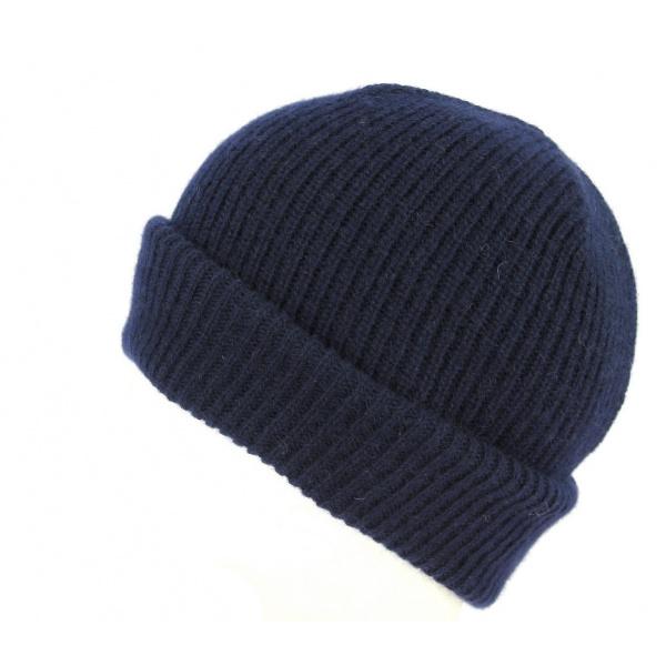 Bonnet à Revers Iggio Cachemire Marine- Traclet