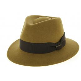 Chapeau Fedora Walter Feutre Laine Camel- Traclet