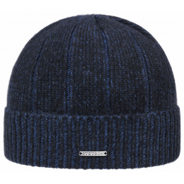 Bonnet Cashi Cachemire Bleu - Stetson
