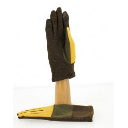Gants Tactiles Femme ZigZag Ocre- Traclet