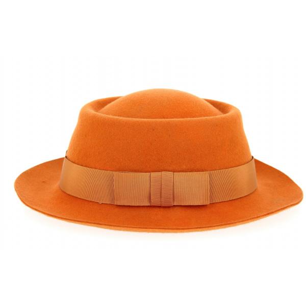 Chapeau Alsacien Forme Gambler Orange- Traclet