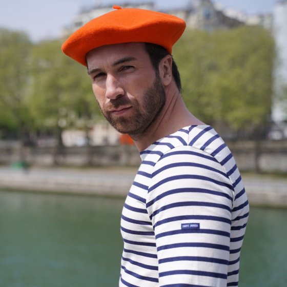 The Classic Orange French Beret- Le Béret Français