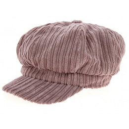 Casquette Gavroche Velours Rose Clair- Traclet