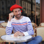 The Classic Red French Beret- Le Béret Français