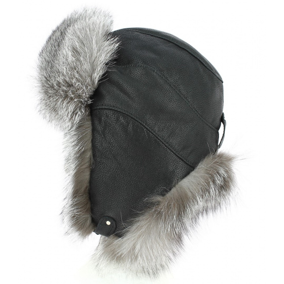 Chapka / Toque Verona Leather & Fox - Traclet