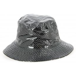 Chapeau de Pluie Amenie Noir à Pois- Traclet