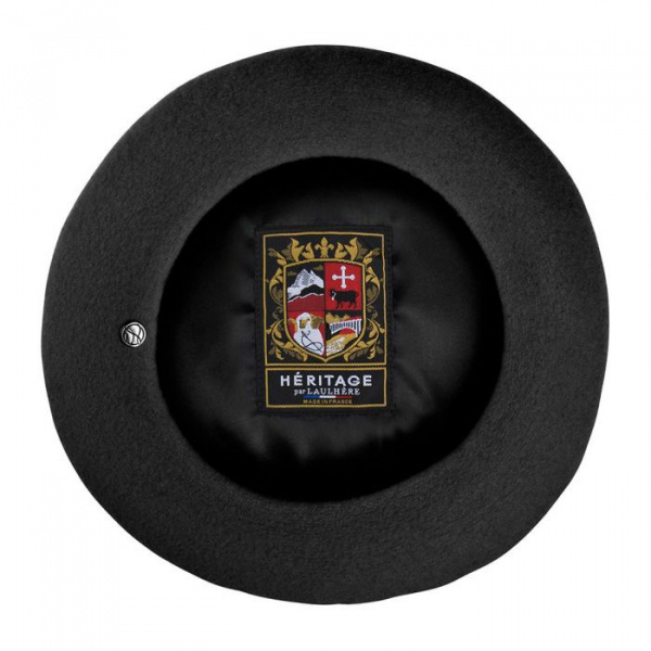 Beret Basque noir L'authentique par Héritage par Laulhère