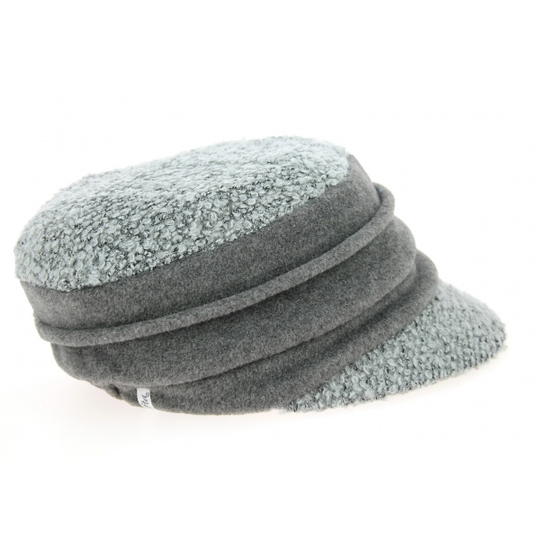 Casquette Gavroche Ebony Laine Grise- Traclet