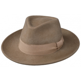 Chapeau Fedora Messine Feutre Laine Camel- Traclet