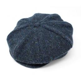 Casquette Irlandaise Clonmel Bleu chiné - Hanna Hats