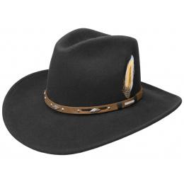 Western Vitafelt Black Hat - Stetson