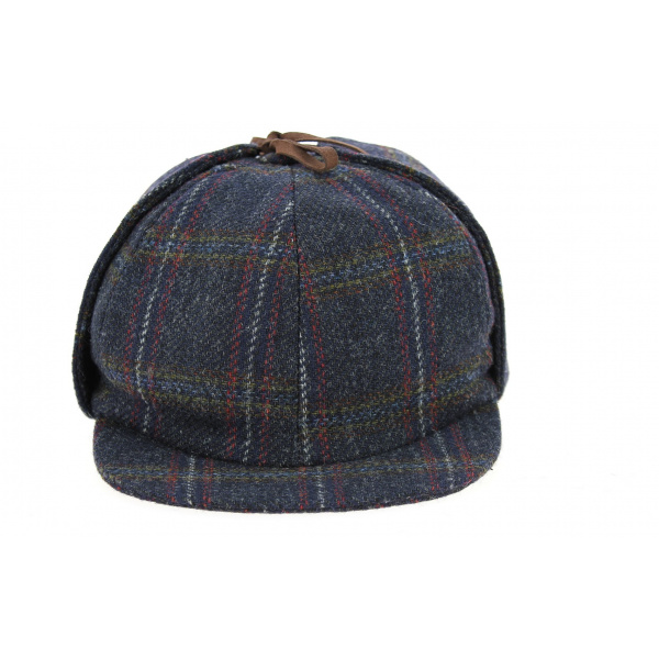 Casquette Sherlock A Carreaux Bleu Marine- Hanna Hats