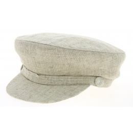 Casquette Marin Steward Lin & Coton Beige- Traclet