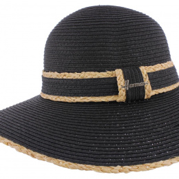 Summer Capeline Queen Liberty Straw Paper Black- Herman