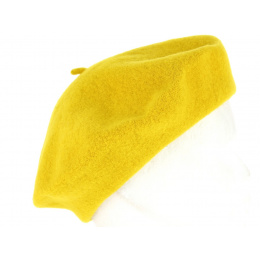 Classic Yellow Wool Beret - Traclet