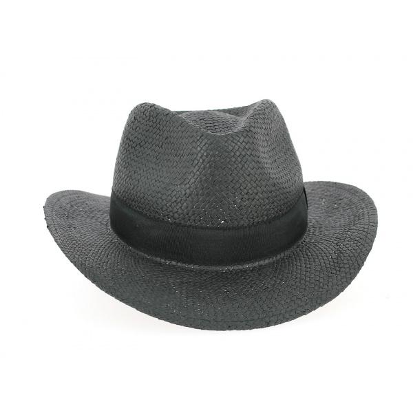 Chapeau Fedora Thierry Paille Papier Noir- Traclet