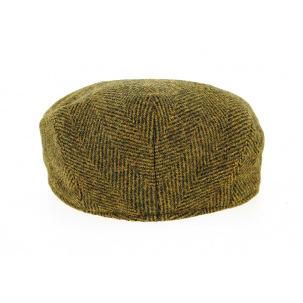 Casquette Plate Laine Chevrons Moutarde- Traclet
