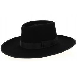 Chapeau à Larges Bords Sinsheim Feutre Laine Noir- Traclet