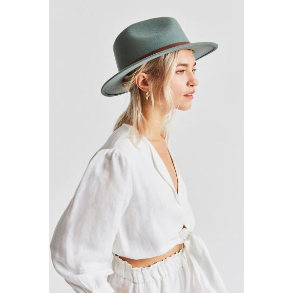 Chapeau Fedora Messer Feutre Laine Cyprès- Brixton