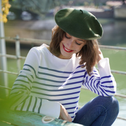 The Classic Khaki French Beret- Le Béret Français