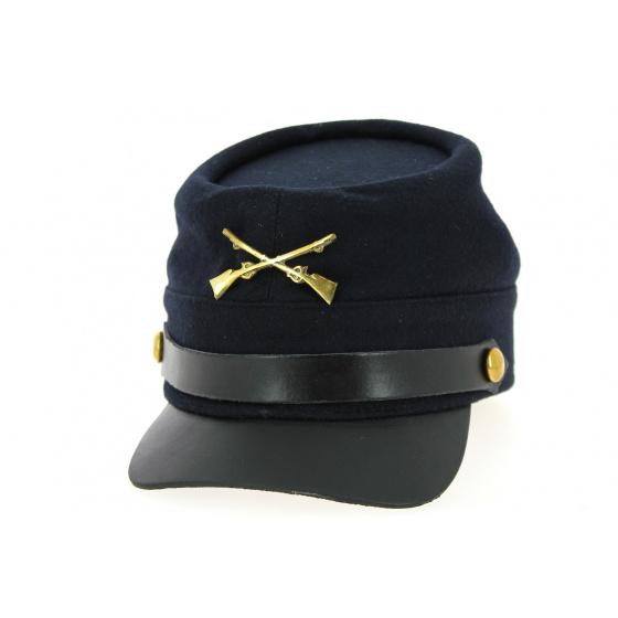 Casquette Nordiste Drap Laine Bleu Marine- Traclet