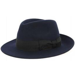 Hat Fedora O Goldwin Wool Felt Marine- Herman