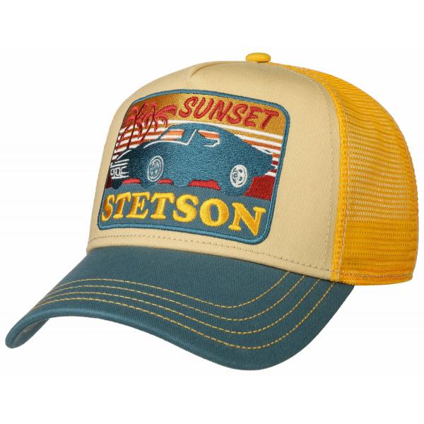 Casquette Baseball Trucker Sunset Bleu & Jaune- Stetson