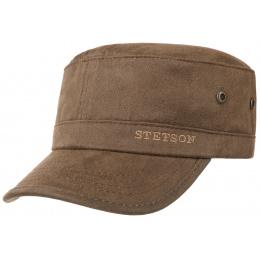 Army Brown Cotton Cap - Stetson