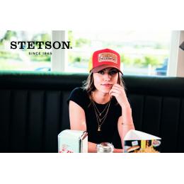 Baseball Cap Trucker Motosport II Cotton Red & Yellow - Stetson