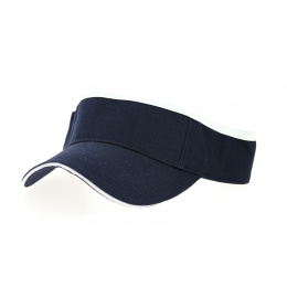 Visor Cap Cotton Navy