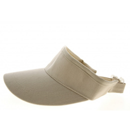 Beige Cotton Visor - Traclet