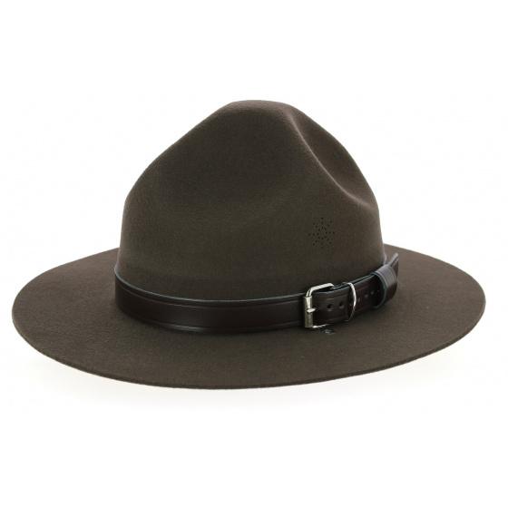 Dark Brown Wool Felt Scout Hat - Guerra 1855