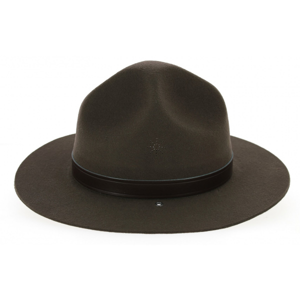 Chapeau Scout Feutre Laine Marron Foncé- Guerra 1855
