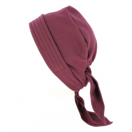 Turban Chemotherapy Scarf Cotton Plum- Tracletlet