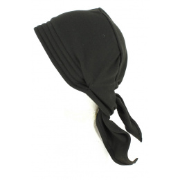 Turban Chemotherapy Cotton Chemotherapy Scarf Black- Tracletlet