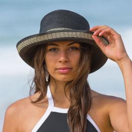 Breton Hat for Women Very Chic Black & Ivory - Emthunzini Hats