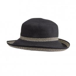 Chapeau Breton Femme Très Chic Noir & Ivoire- Emthunzini Hats