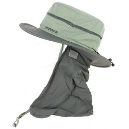 Bob Nylon Neck Cover Grey & Green - Stetson