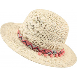 Butterfly Butterfly Straw Hat for Children - Natural Paper - Barts