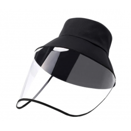 Hat with removable transparent protective visor