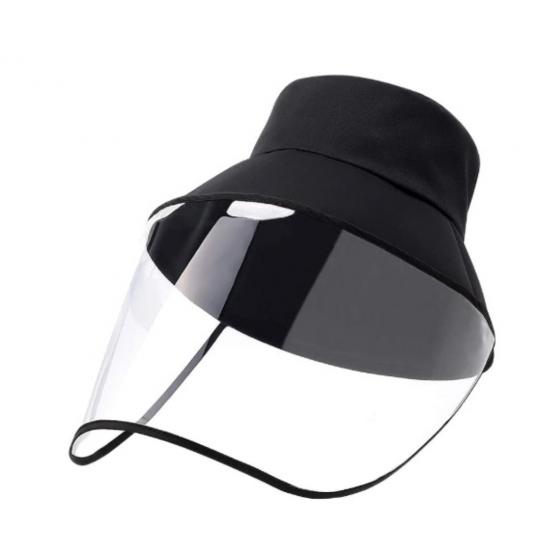 Chapeau avec visière de protection transparente amovible