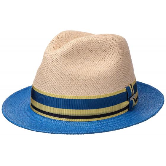 Panama Hat Player Panama Hat Beige & Blue- Stetson