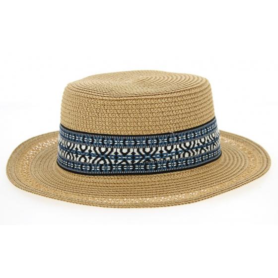 Azteca Boat Hat Azteca Straw Tobacco Paper Hat - Traclet