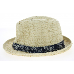 Trilby Hat Mariel Straw Natural Paper Trilby Hat - Traclet