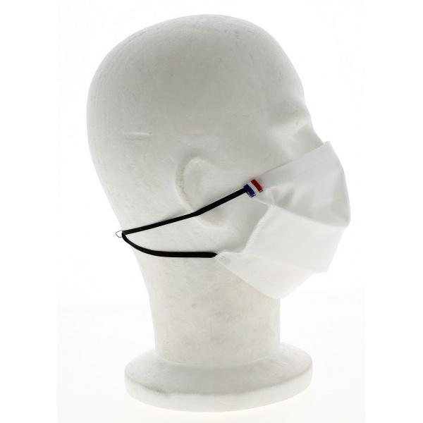 Masque Barrière Lavable Blanc avec Barrette Nasale