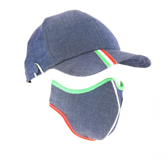Kit Casquette Baseball Masque Coton Jean Italie- Traclet