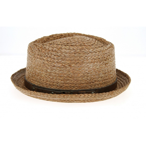 Chapeau PorkPie Indian Wells paille - Traclet