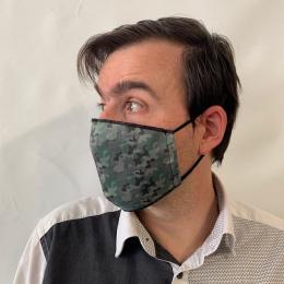 Masque Camouflage Fantaisie Élastique Noir- Traclet