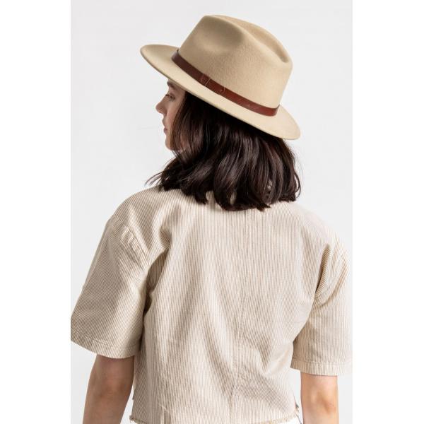 Chapeau Fedora Messer Feutre Laine Safari- Brixton